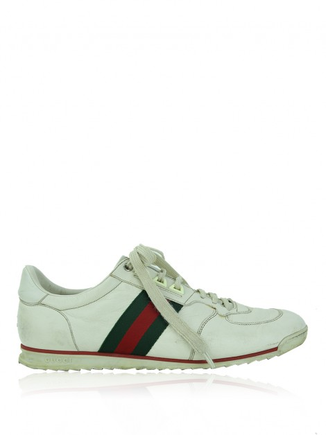 Tênis Gucci GG Web Running Off-White