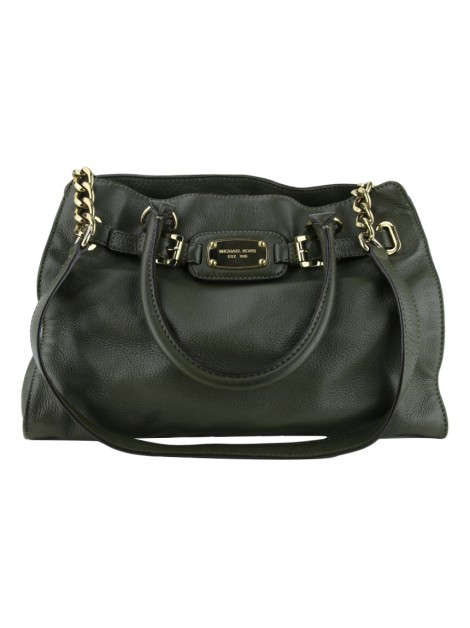 Bolsa Michael Kors Hamilton East West Large Musgo