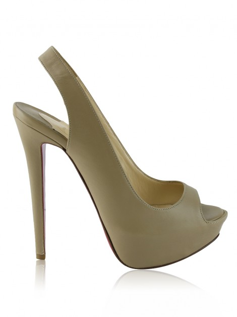 Sapato Christian Louboutin Private Number Bege