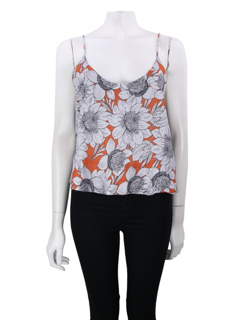 Cropped Animale Linho Floral