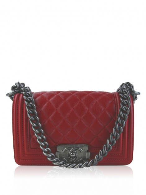 Bolsa Chanel Boy Small Vermelha