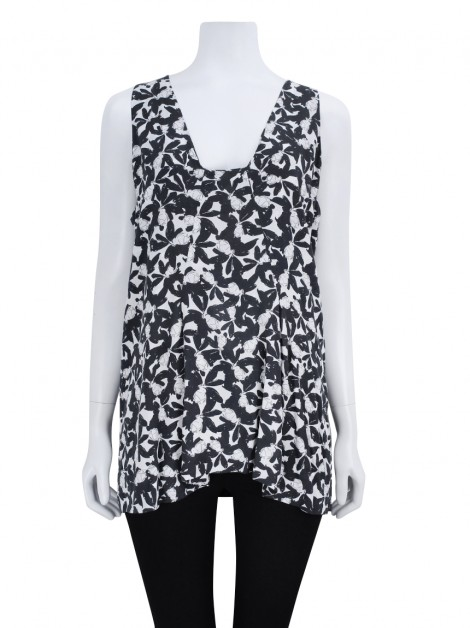 Blusa FIT Alongada Viscose Estampada