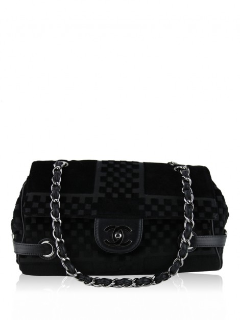 Bolsa Chanel Checkered Velvet Small