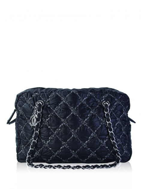 Bolsa Chanel Bubble Camera Nylon Preta