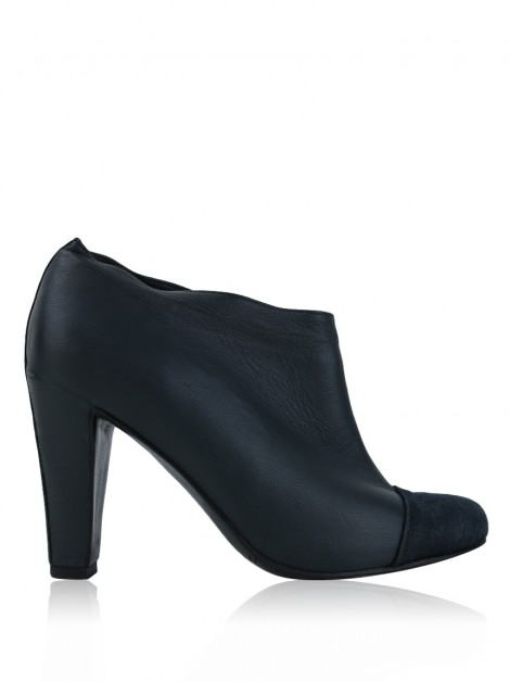Ankle Boot Huis Clos Cap Toe Cinza