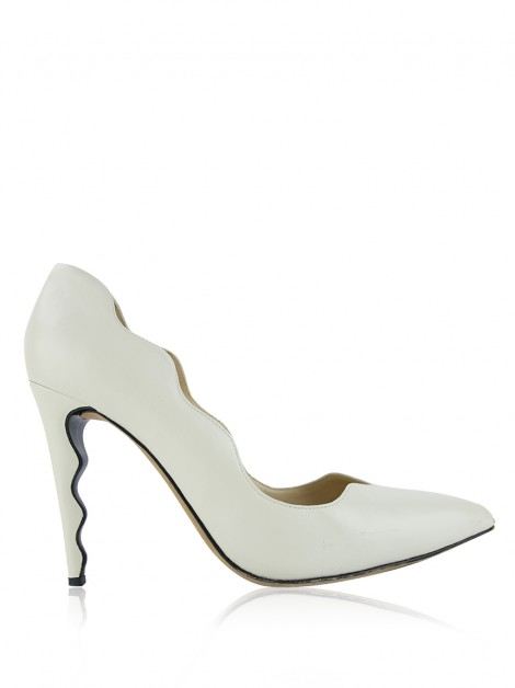 Sapato Alexandre Birman Waves Off White