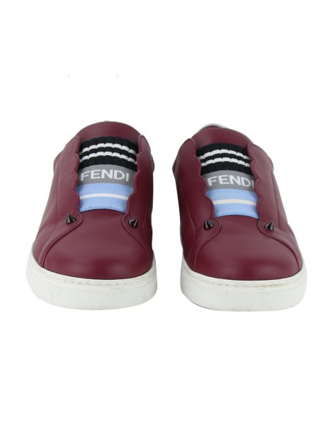 Tênis Fendi Logo Knit Rockoko Scallop Detail Slip On