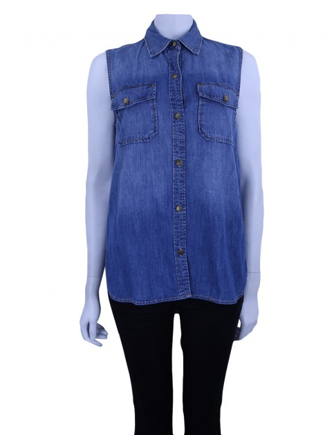 Blusa Current Elliott Perfect Shirt Miner Jeans