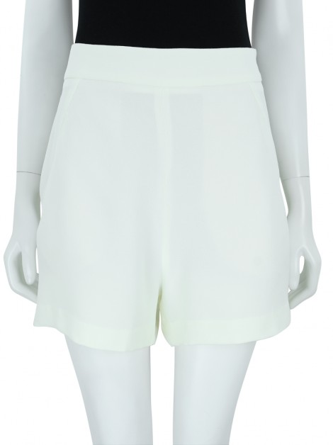 Shorts Animale Alfaiataria Tecido Off White