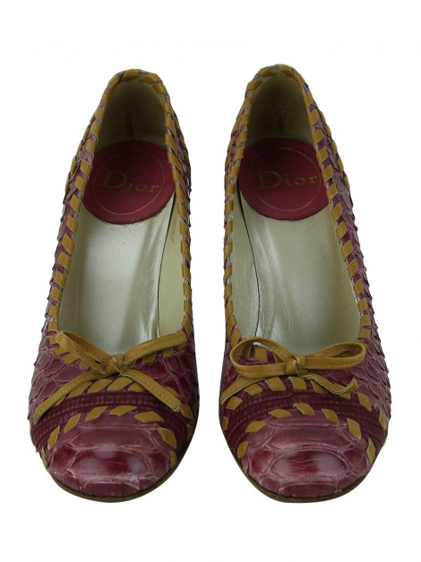 Sapato Christian Dior Whipsitched Bicolor