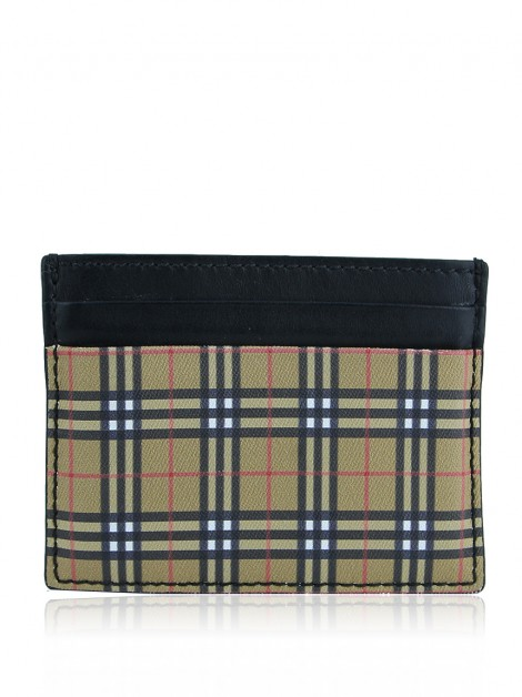 Porta-Cartão Burberry Mini Check Sandon