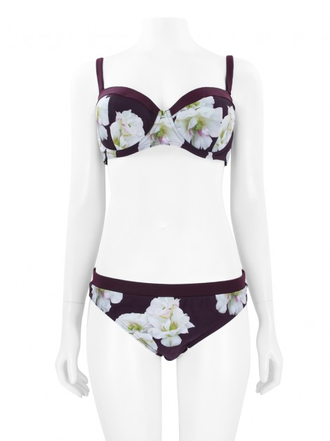 Biquini Ted Baker Roxo Floral