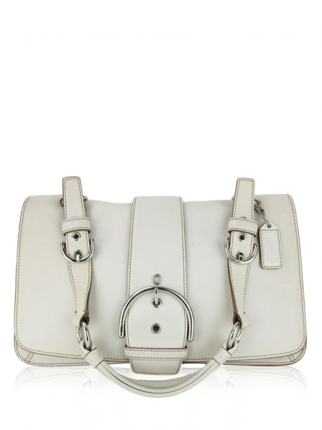 Bolsa Coach Soho Flap Off White