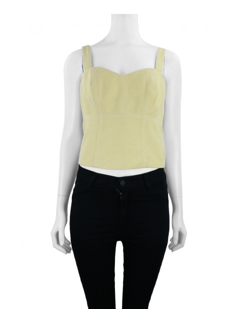 Blusa Mixed Cropped Amarelo Sol