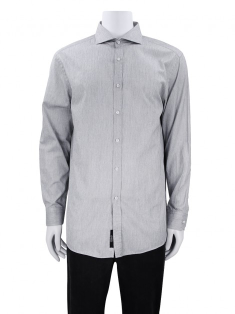 Camisa Boss Hugo Boss Tailored Slim-Fit Cinza Mescla