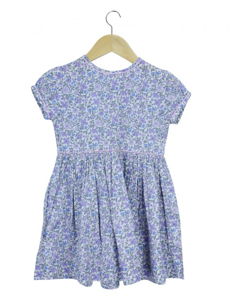 Vestido Liberty London Infantil Floral Roxo