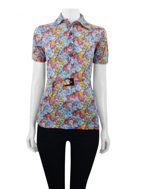 Blusa Cris Barros Flores Colorida