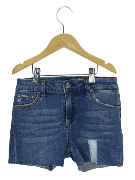 Shorts Adriano Goldschmied The Hailey Jeans Azul Infanto Juvenil