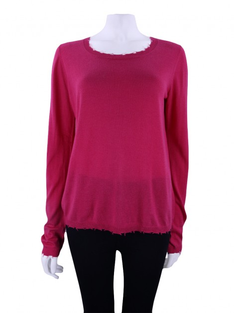 Blusa Mixed Destroyed Rosa
