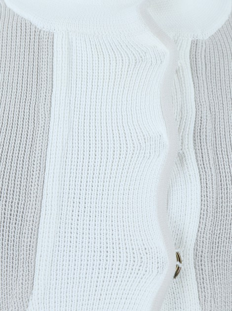 Casaco Mixed Tricot Bege