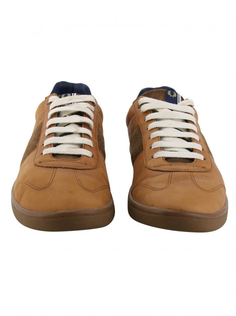 Tênis Fred Perry Couro Caramelo