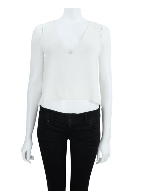 Blusa Cris Barros Reta Off White