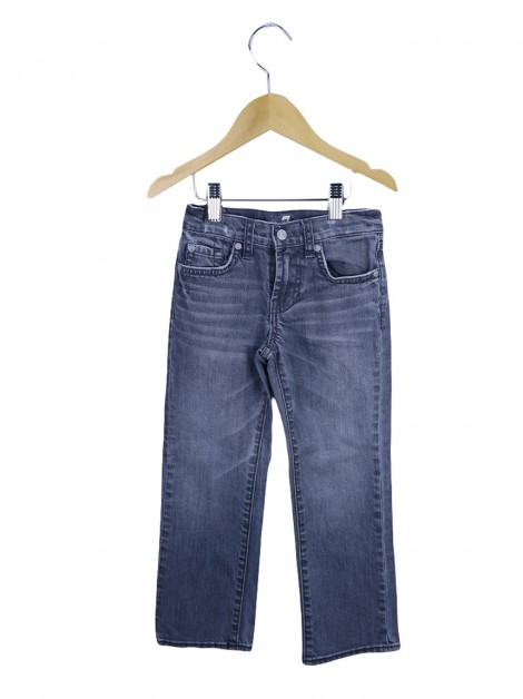 Calça Seven For All Mankind Standard Jeans Cinza Infantil