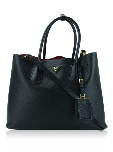 Bolsa Prada Double Bag Large Nero