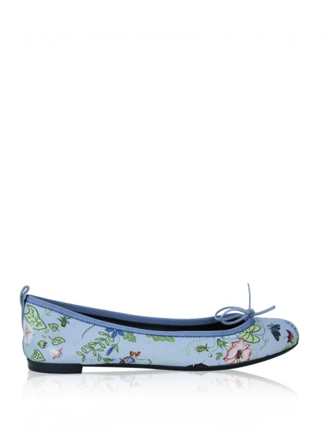 Sapatilha Gucci Flora Dusty Blue