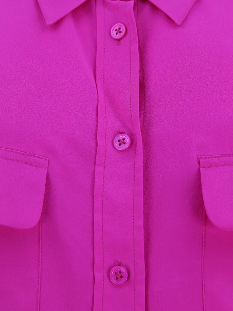 Camisa Equipment Seda Rosa Neon