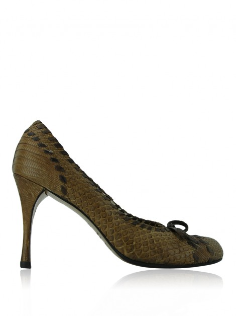 Sapato Christian Dior Whipsitched Marrom
