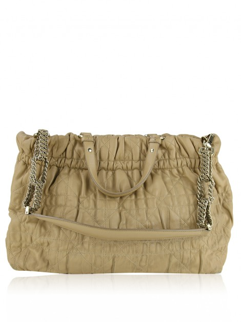 Bolsa Christian Dior Delices Cannage Lambskin Bege