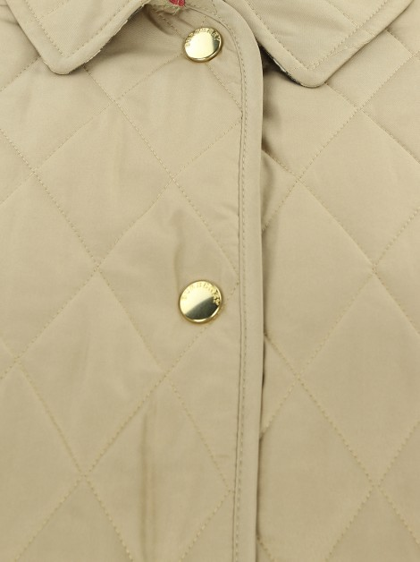 Casaco Burberry Nylon Diamond Quilted Bege