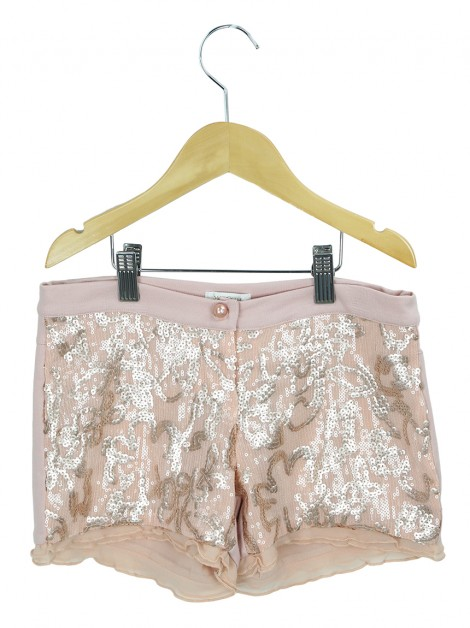 Shorts Miss Grant Bordado Rosa Infantil