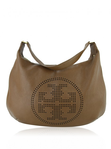 Bolsa Tory Burch Hobo Perforated Caramelo