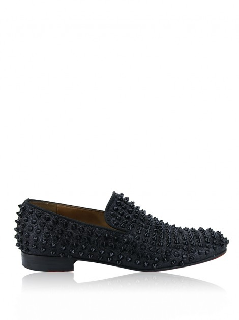 Mocassim Christian Louboutin Spiked Dandelion Preto