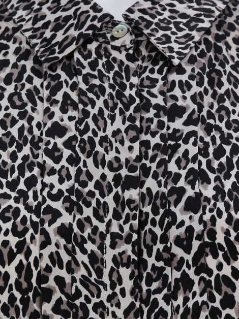 Blusa Max Mara Weekend Acetinada Animal Print