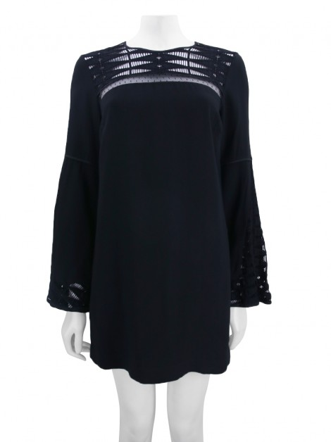 Vestido Animale Renda Preto