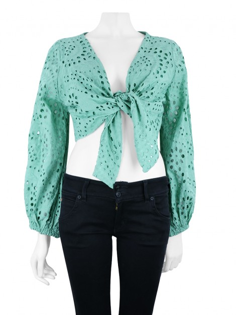 Blusa Amissima Cropped Marcela Laise Verde