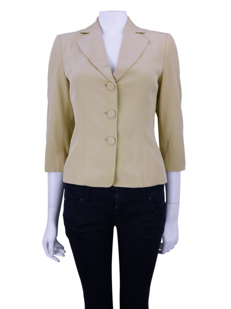 Blazer Moschino Cheap and Chic Tecido Bege