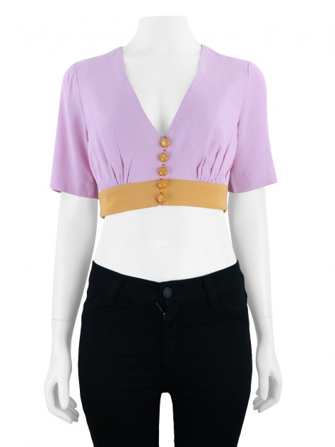 Blusa byNV Cropped Bicolor