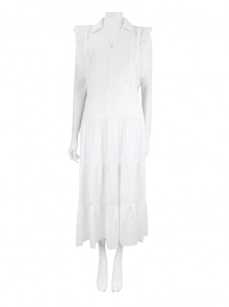 Vestido Sandro Renda Off-White