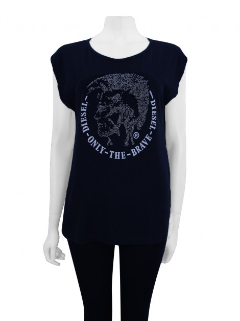 Blusa Diesel Only The Brave Preto