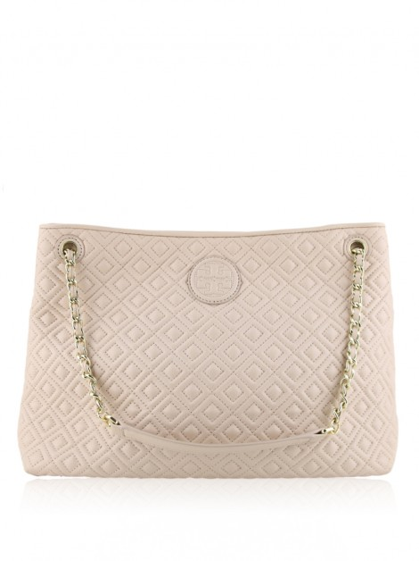 Bolsa Tory Burch Marion Quilted Rosa