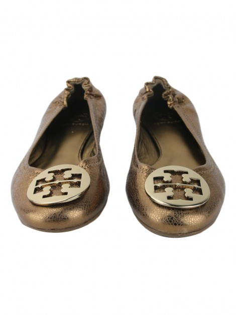 Sapatilha Tory Burch Reva Crackled Bronze