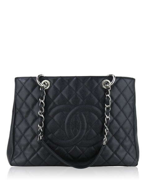 Bolsa Chanel Caviar Quilted Grand Shopping Tote GST