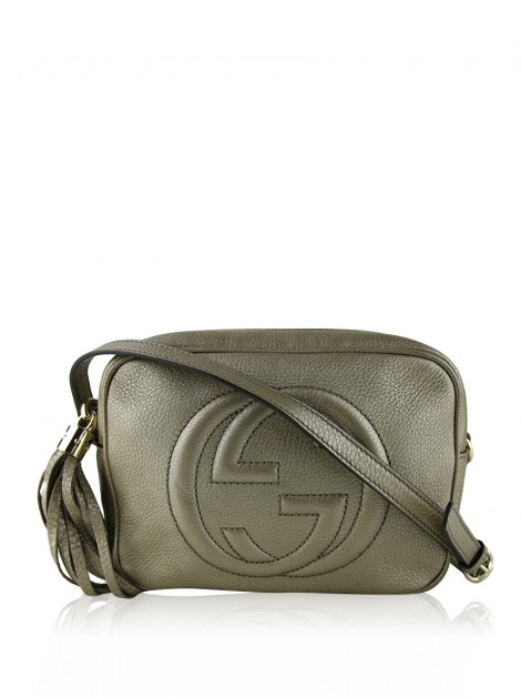 Bolsa Gucci Soho Disco Small Dourada