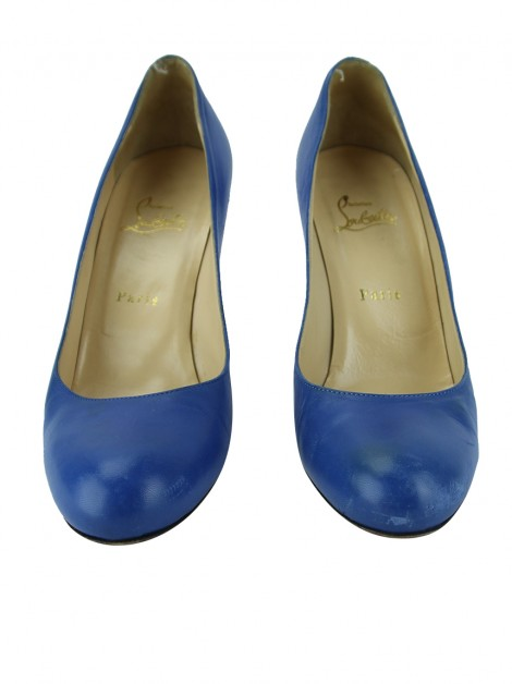 Sapato Christian Louboutin Simple 100 Azul