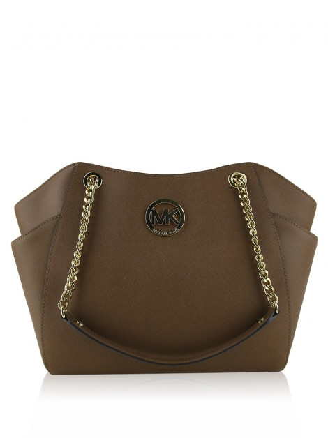 Bolsa Michael Kors Jet Set Travel Chain Marrom