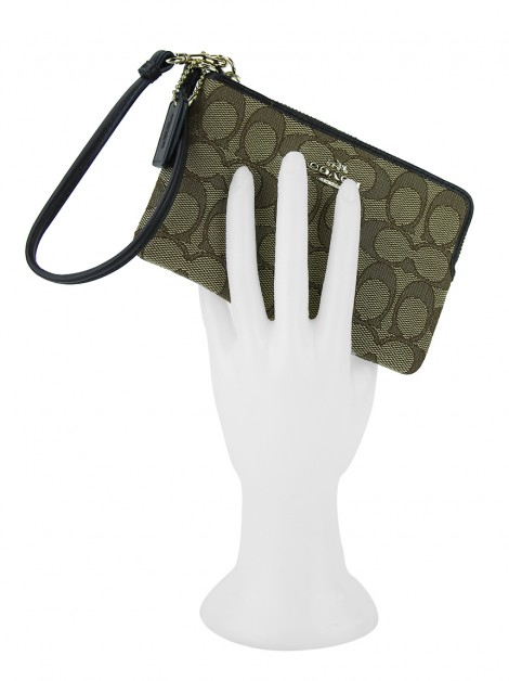 Carteira Coach Signature Wristlet